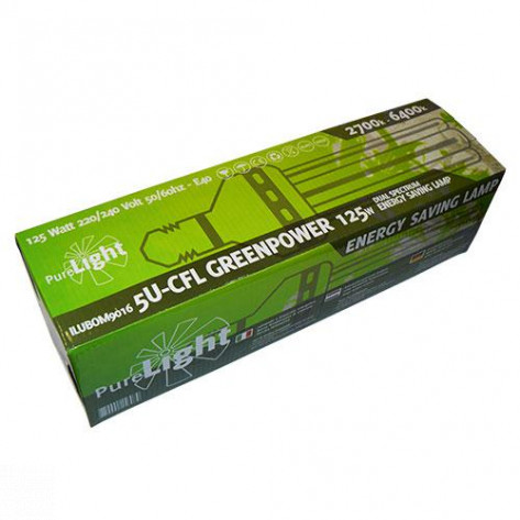 BOMBILLA PURE LIGHT CFL 125W GREENPOWER 2700K-6400K (CRECI/FLORA)